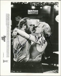 Autographs: ALAMO BAY MOVIE CAST - PRINTED PHOTOGRAPH SIGNED IN INK CO-SIGNED BY: AMY MADIGAN, ED HARRIS