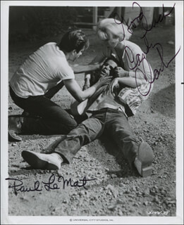 AMERICAN GRAFFITI MOVIE CAST - AUTOGRAPHED SIGNED PHOTOGRAPH CO-SIGNED BY: PAUL LE MAT, CANDY CLARK