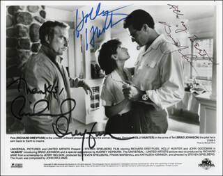 ALWAYS MOVIE CAST - AUTOGRAPHED SIGNED PHOTOGRAPH CO-SIGNED BY: RICHARD DREYFUSS, HOLLY HUNTER, BRAD JOHNSON