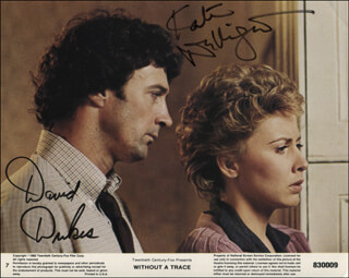 WITHOUT A TRACE MOVIE CAST - PRINTED PHOTOGRAPH SIGNED IN INK CO-SIGNED BY: KATE NELLIGAN, DAVID DUKES