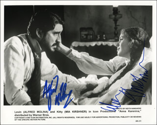 ANNA KARENINA MOVIE CAST - PRINTED PHOTOGRAPH SIGNED IN INK CO-SIGNED BY: MIA KIRSHNER, ALFRED MOLINA