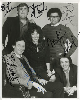 SECOND CITY TELEVISION CAST - AUTOGRAPHED SIGNED PHOTOGRAPH CO-SIGNED BY: JOHN CANDY, ANDREA MARTIN, EUGENE LEVY, MARTIN SHORT, JOE FLAHERTY