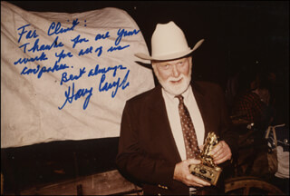 HARRY CAREY JR. - AUTOGRAPHED INSCRIBED PHOTOGRAPH