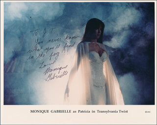 MONIQUE GABRIELLE - INSCRIBED PRINTED PHOTOGRAPH SIGNED IN INK