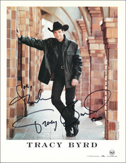 TRACY BYRD - INSCRIBED PRINTED PHOTOGRAPH SIGNED IN INK 2000