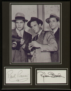 UNTOUCHABLES TV CAST - AUTOGRAPH CO-SIGNED BY: PAUL PICERNI, ROBERT STACK
