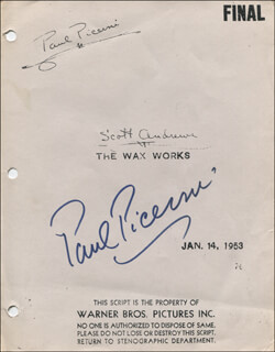 Autographs: PAUL PICERNI - SCRIPT COVER SIGNED