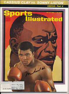 Autographs: MUHAMMAD THE GREATEST ALI - MAGAZINE SIGNED