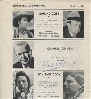 CHARLES D. COBURN - DIRECTORY PHOTO SIGNED