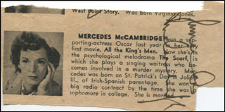 MERCEDES McCAMBRIDGE - DIRECTORY PHOTO SIGNED