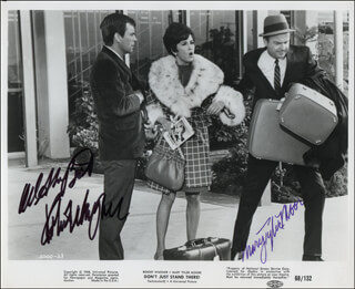 DON'T JUST STAND THERE MOVIE CAST - AUTOGRAPHED SIGNED PHOTOGRAPH CO-SIGNED BY: ROBERT J. WAGNER, MARY TYLER MOORE