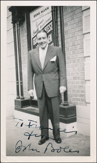 Autographs: JOHN BOLES - INSCRIBED PHOTOGRAPH SIGNED
