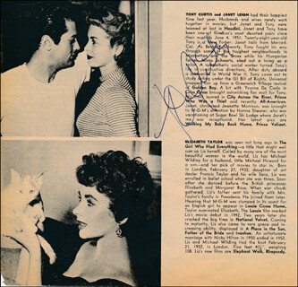 TONY CURTIS - DIRECTORY PHOTO SIGNED
