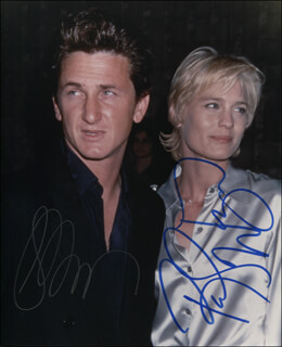 SEAN PENN - AUTOGRAPHED SIGNED PHOTOGRAPH CO-SIGNED BY: ROBIN WRIGHT