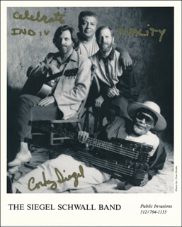CORKY SIEGEL - PRINTED PHOTOGRAPH SIGNED IN INK