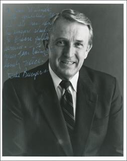 Autographs: GOVERNOR DALE BUMPERS - INSCRIBED PHOTOGRAPH SIGNED