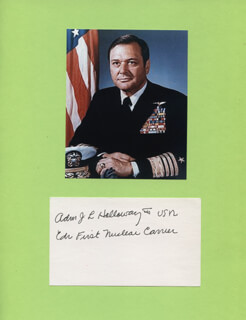ADMIRAL JAMES L. HOLLOWAY III - AUTOGRAPH