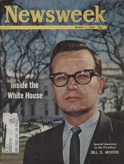 Autographs: BILL MOYERS - MAGAZINE COVER SIGNED
