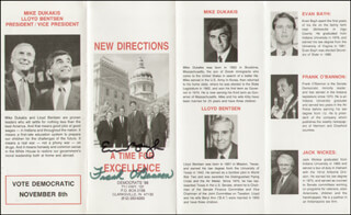 Autographs: GOVERNOR EVAN BAYH - PAMPHLET SIGNED CO-SIGNED BY: GOVERNOR FRANK O'BANNON