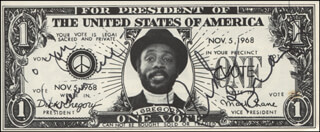 DICK GREGORY - FLYER SIGNED