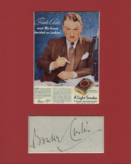 BOAKE (HARRY THOMAS HENRY) CARTER - AUTOGRAPH