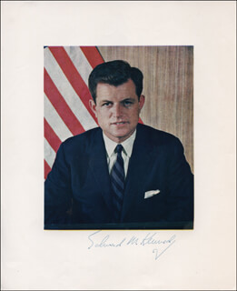 EDWARD TED KENNEDY - AUTOGRAPHED SIGNED PHOTOGRAPH