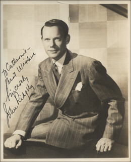 JOHN RIDGELY - AUTOGRAPHED INSCRIBED PHOTOGRAPH