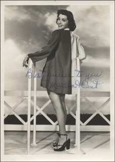 MARSHA HUNT - AUTOGRAPHED SIGNED PHOTOGRAPH