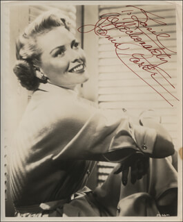 JANIS CARTER - AUTOGRAPHED INSCRIBED PHOTOGRAPH