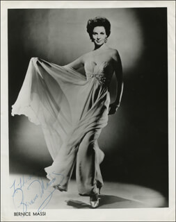 BERNICE MASSI - INSCRIBED PRINTED PHOTOGRAPH SIGNED IN INK