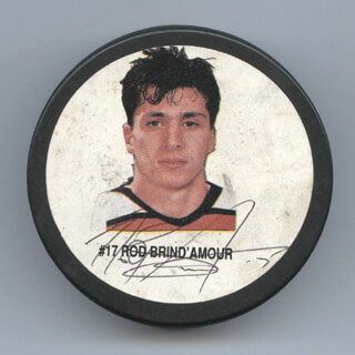 ROD BRIND'AMOUR - HOCKEY PUCK SIGNED