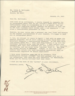 KAY E. KUTER - TYPED LETTER SIGNED 01/25/2001