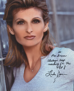 LINDA DAVIS - AUTOGRAPHED INSCRIBED PHOTOGRAPH