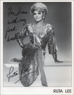 RUTA LEE - INSCRIBED PRINTED PHOTOGRAPH SIGNED IN INK
