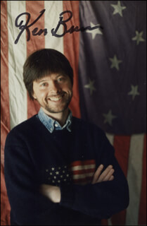 KEN BURNS - AUTOGRAPHED SIGNED PHOTOGRAPH