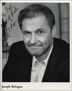 JOSEPH BOLOGNA - INSCRIBED PRINTED PHOTOGRAPH SIGNED IN INK