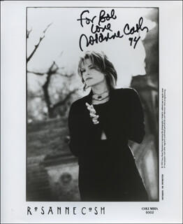 ROSANNE CASH - INSCRIBED PRINTED PHOTOGRAPH SIGNED IN INK 1994