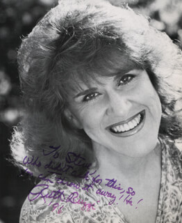 RUTH BUZZI - AUTOGRAPHED INSCRIBED PHOTOGRAPH 1996