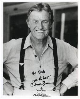 ORSON BEAN - INSCRIBED PRINTED PHOTOGRAPH SIGNED IN INK