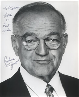 RICHARD DYSART - AUTOGRAPHED INSCRIBED PHOTOGRAPH