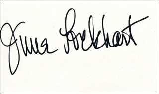 JUNE LOCKHART - AUTOGRAPH  - HFSID 324281