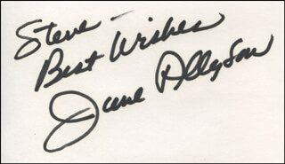 JUNE ALLYSON - AUTOGRAPH NOTE SIGNED