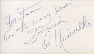 LEE MERIWETHER - AUTOGRAPH NOTE SIGNED