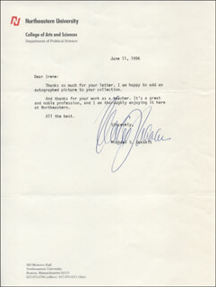 GOVERNOR MICHAEL DUKAKIS - TYPED LETTER SIGNED 06/11/1996