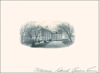 FIRST LADY MAMIE DOUD EISENHOWER - WHITE HOUSE ENGRAVING SIGNED