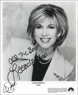 LEEZA GIBBONS - INSCRIBED PRINTED PHOTOGRAPH SIGNED IN INK