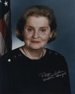 MADELEINE ALBRIGHT - AUTOGRAPHED INSCRIBED PHOTOGRAPH