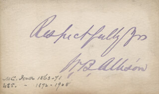 Autographs: WILLIAM B. ALLISON - AUTOGRAPH SENTIMENT SIGNED