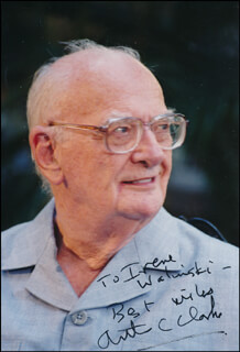 SIR ARTHUR C. CLARKE - AUTOGRAPHED INSCRIBED PHOTOGRAPH