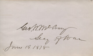 Autographs: GEORGE W. McCRARY - SIGNATURE(S) 06/19/1878
